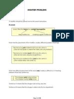 Lesson Modifier Problems