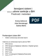 Penitensijarni Sistem i Alternativne Sankcije u BiH