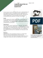 Classification of Articulator