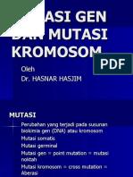 Mutasi Gen Dan Mutasi Kromosom