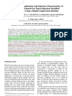 A Study of the Combustion and Emission Characteristics of CNG DI
