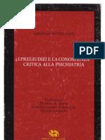 Giorgio Antonucci — I Pregiudizi e La Conoscenza Critica Alla Psichiatria
