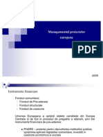 Managementul Proiectelor Europene