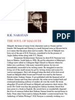 R K Narayan Biography Note