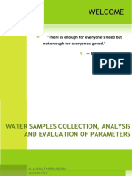 Water Samples Collection, Analysis and Evaluation Of