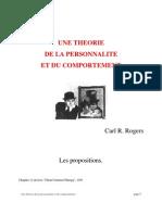 Une théorie de la personnalité et du comportement - Carl Rogers