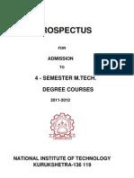 M.tech. Prospectus 2011-12 Nit