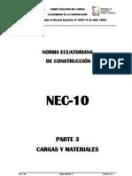 Cec2010 Cargas y Materiales