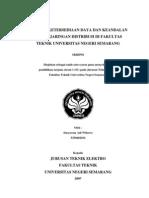 Analisis Ketersediaan Daya Dan Keandalan Sistem Jaringan Distribusi