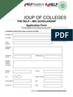 MIC Scholarship Application Form 2011