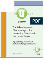 The Advantages and Disadvantages of University Study in the United States