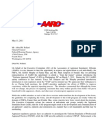 AARO Comment Letter on UAD- Dated 5-11-11