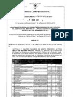 Resolución 005 de 2011 - Precio maximo recobro medicamentos NO POS