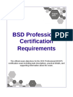 BDSP Certification Requirements