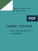 Norme Tecniche per la Visita alle Armi Mod. 91 in Distribuzione - 1935