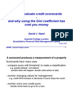 How to Evaluate Credit Scorecards and Why Using the Gini Coefficient Has Cost You Money