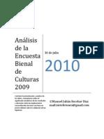 ANÁLISIS ENCUESTA BIENAL DE CULTURAS 2009
