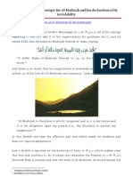 The Love of the Messenger for Al-Madinah and His Declaration of Its Inviolability
