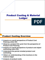 Product Costing Material Ledger
