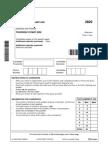 L as Level Physics a 2822 01 Jun 2008 Test Paper
