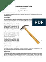 Basic Ergonomics - Hammer and Nail