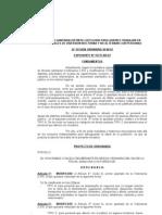Libreta Sanitaria. Modifica Ord. 2310