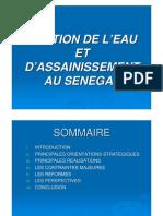 09-GESTION DE L'EAU ET D'ASSAINISSEMENT AU SENEGAL