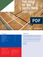 Running Sport - Role of the Secretary