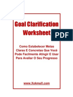 Goal Clarification Worksheet Presente