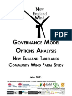 Governance Model Options Analysis