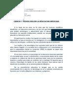 Ciencia y Tecnologia en La Educacion Mexicana