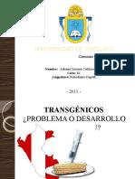 TRANSGÉNICOS EN EL PERÚ