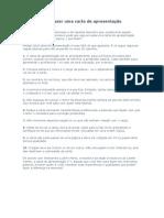 10 dicas para fazer uma carta de apresentação e modelos