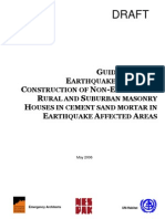 Guidelines for g Earthquake Resistant Er Construction of Non-Engineered Rural and Suburban Masonry Houses in Cement Sand Mortar in Earthquake Affected Area