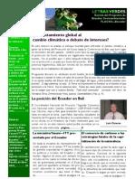 Letras Verdes No.0 - Marzo 2008