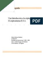 UNA INTRODUCCIÓN A LA CRIPTOGRAFÍA,EL CRIPTOSISTEMA RSA