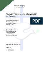 Manual Sobre Tecnicas de Intervencion en Grupos (2)
