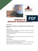 GERENCIA en Negocio Internacionales
