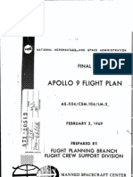 Apollo 9 Final Flight Plan