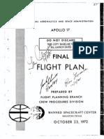 Apollo 17 Final Flight Plan