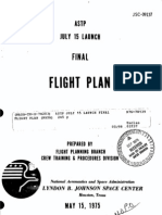 Apollo-Soyuz July 15 Launch Final Flight Plan