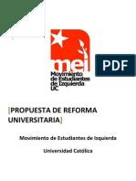 Propuesta de Reforma Universitaria, Movimiento de Estudiantes de Izquierda