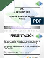Operador Like SQL