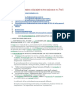 Los procedimientos administrativos mineros en Perú