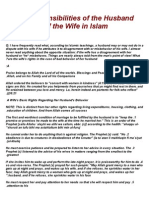 Some Responsibilities of the Husband and Rights of the Wife in Islam