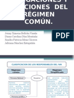 Obligaciones y sanciones régimen común