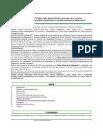 Norma Oficial Mexicana NOM-127-SSA1-1994, Salud Ambiental Agua Para Uso y Consumo