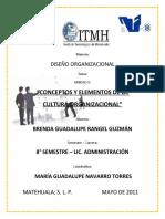 Conceptos y Elementos de La Cultura Organizacional