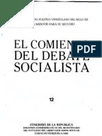Tomo 12. El comienzo del debate socialista