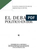 Tomo 15. El debate político en 1936